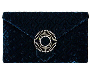 Edith Peacock Classic Velvet Clutch