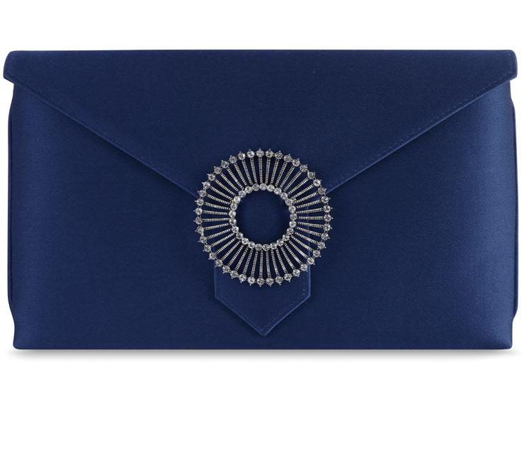 Edith Royal Blue Silk Clutch
