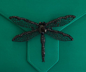 Black Dragonfly Brooch