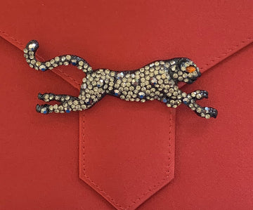 Black Diamond Panther Brooch