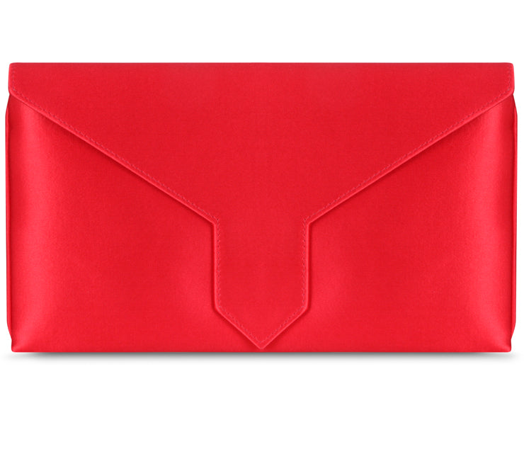 Edith Bespoke Lipstick Red Silk Clutch