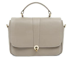 Ella Taupe Leather Shoulder Bag