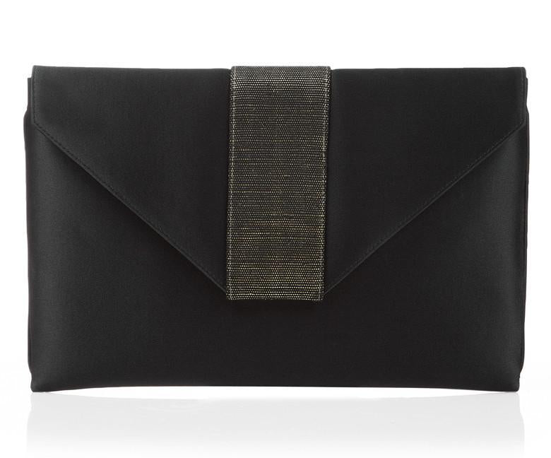 Elsa Black Silk Clutch