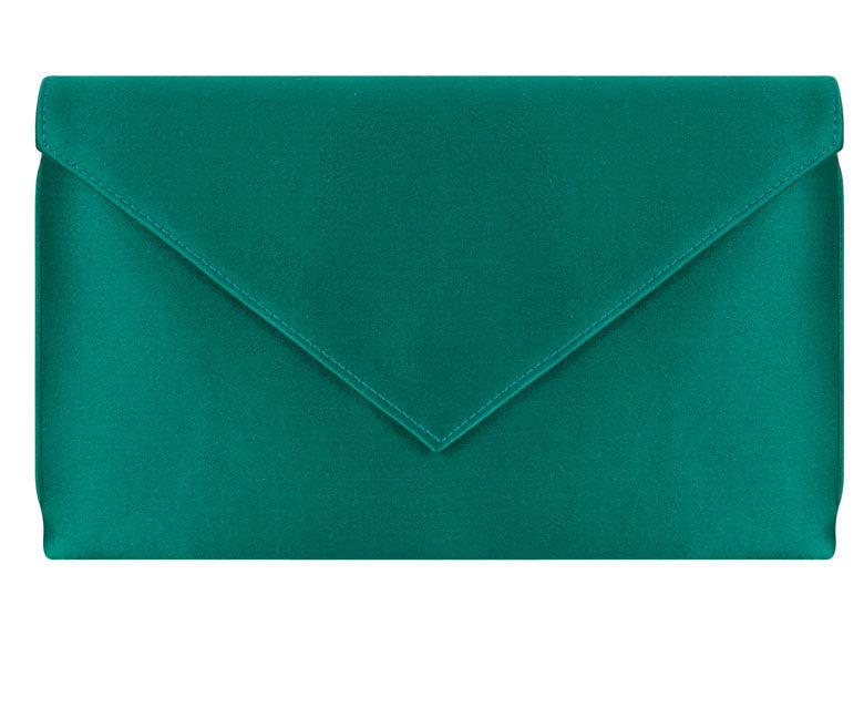 Abby Emerald Silk Clutch