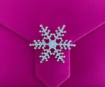 Gold Crystal Snowflake Brooch