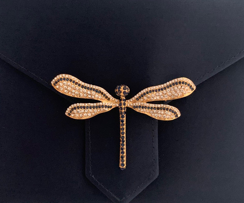 Gold Dragonfly Brooch