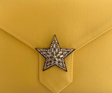 Gold Crystal Star Brooch
