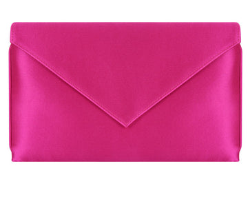 Abby Fuchsia Silk Clutch