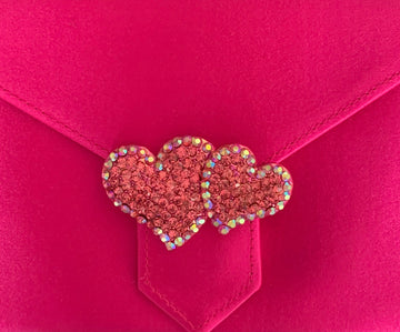Pink Hearts Brooch
