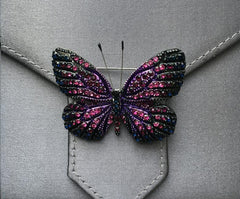 Purple and black crystal butterfly