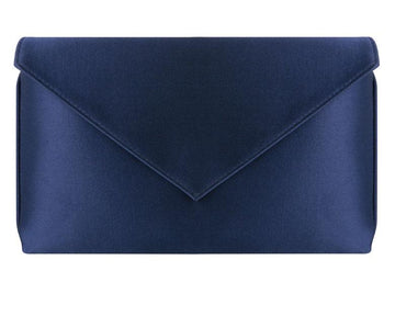Abby Royal Blue Silk Clutch