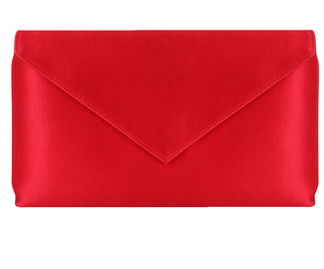 Abby Red Silk Clutch