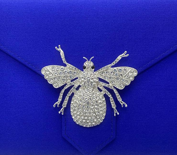 Silver Crystal Bee Brooch