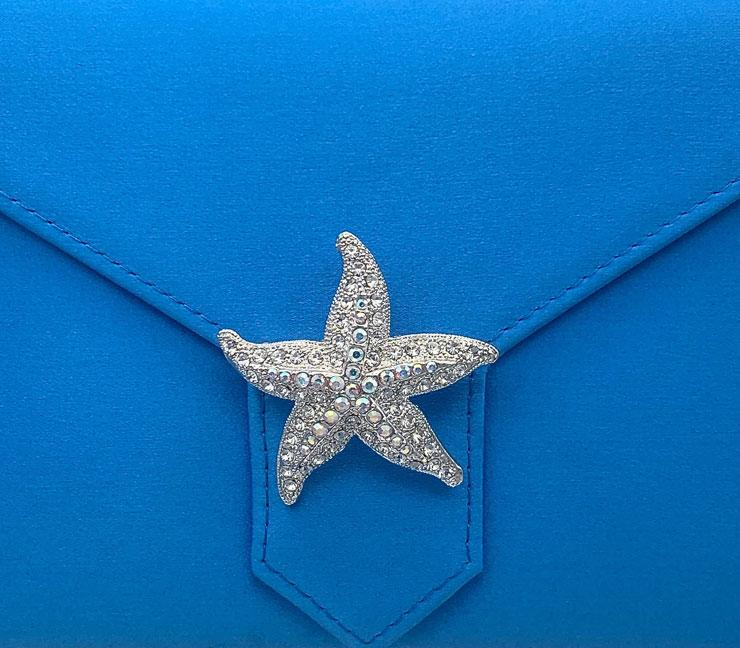 Charlie Bespoke Royal Blue Silk Clutch