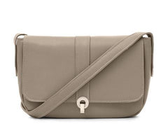 Stanley Taupe Leather Shoulder Bag