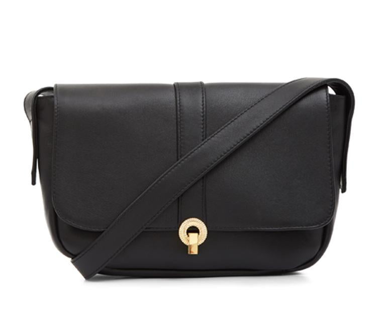 Stanley Black Leather Shoulder Bag