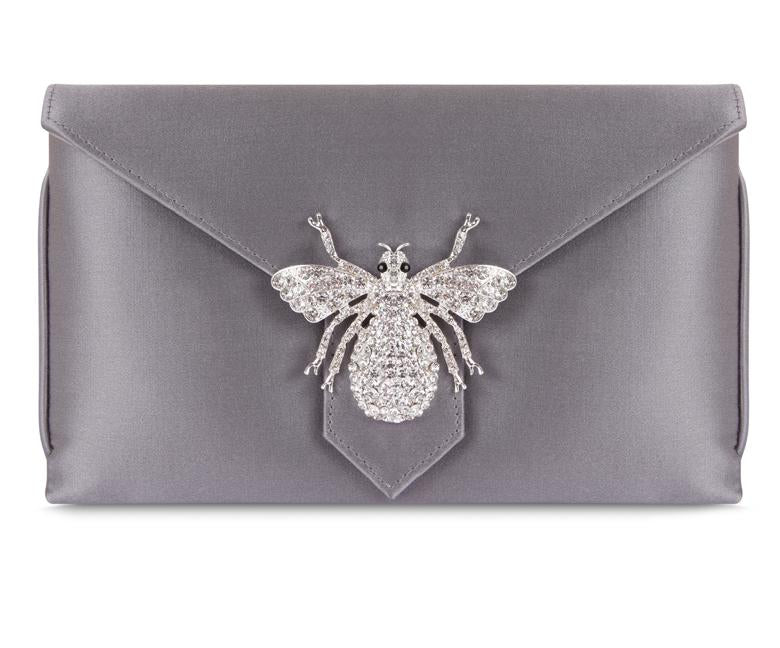 Charlie Steel Silk Clutch