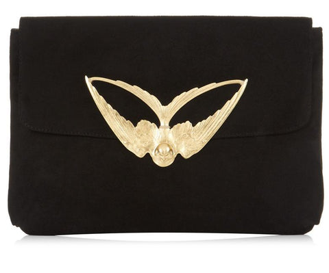 Tito Black Suede Clutch