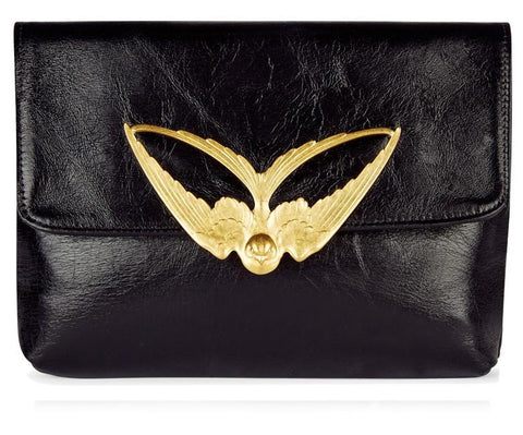 Tito Black Leather Clutch