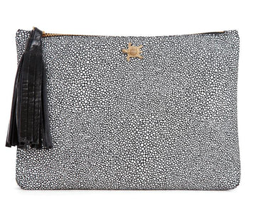 Tommy Black Stingray Leather Pouch