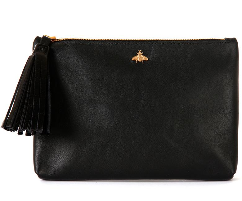 Tommy Black Nappa Leather Pouch