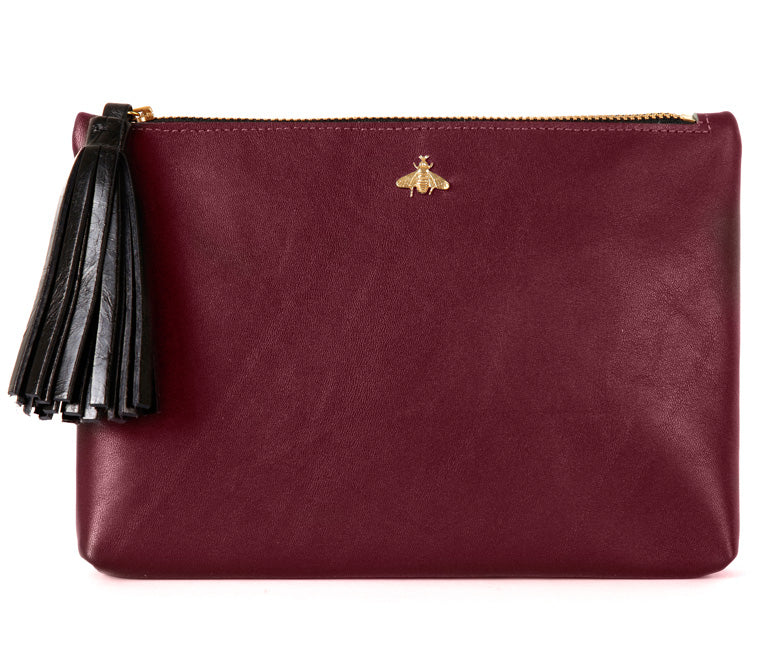 Tommy Burgundy Nappa Leather Pouch
