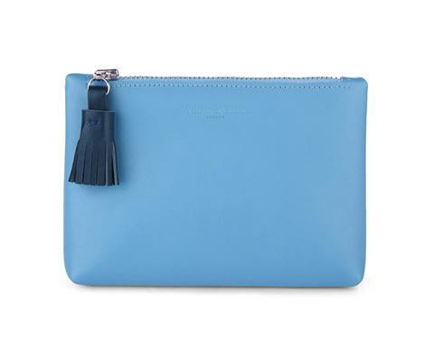 Tuppence Sky Blue Leather Coin Purse
