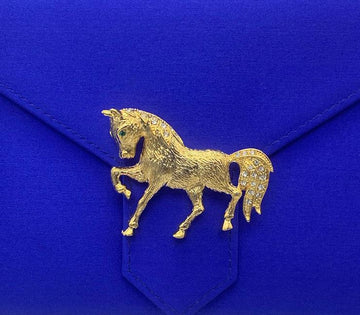 Gold Walking Horse Brooch