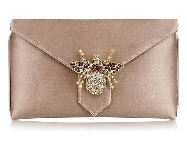 Charlie Oyster Classic Silk Clutch