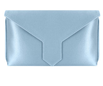 Charlie Bespoke Powder Blue Silk Clutch