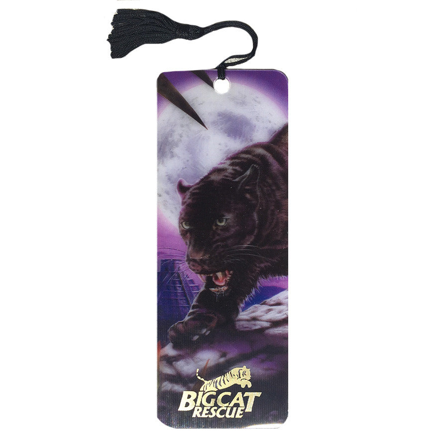 Bookmark - 3D Hologram Black Jaguar & Temple