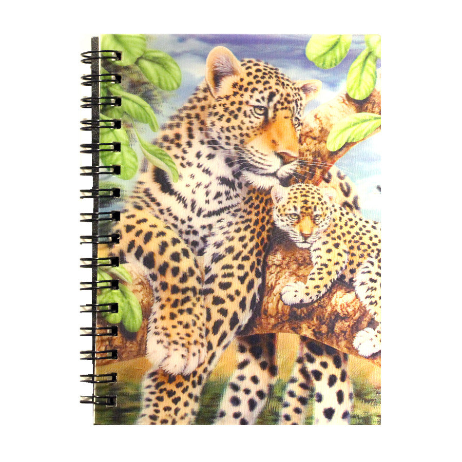 3D Notebook - Hologram Leopard & Cub