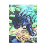 Post Card - 3D Hollogram Black Leopard Jungle