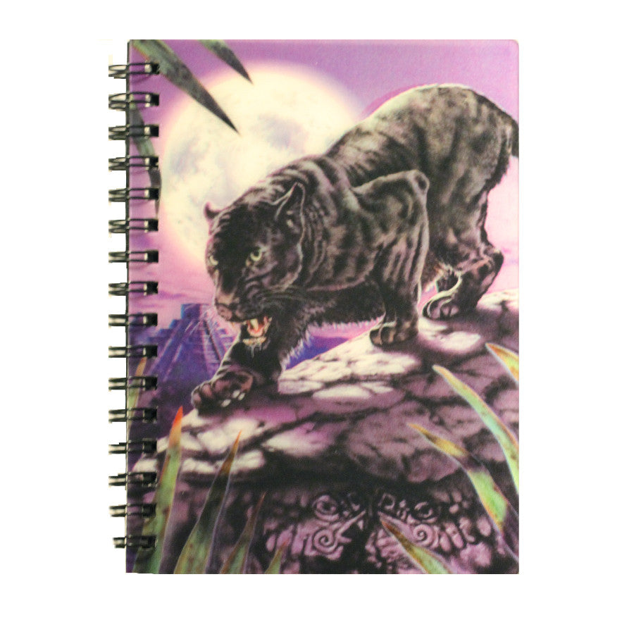 Note Book - 3D Hologram Black Jaguar & Temple