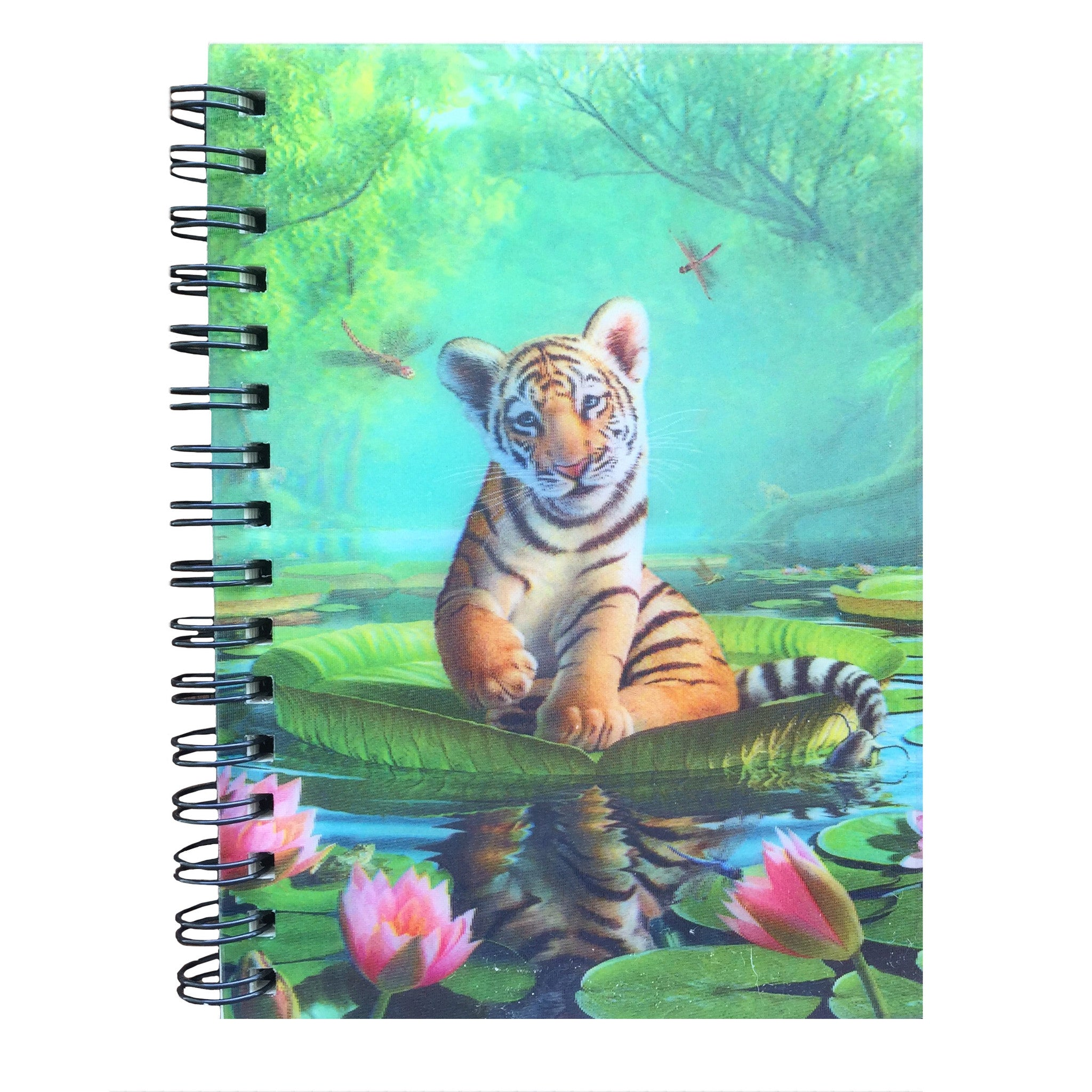 Note Book - 3D Hologram Tiger Lily