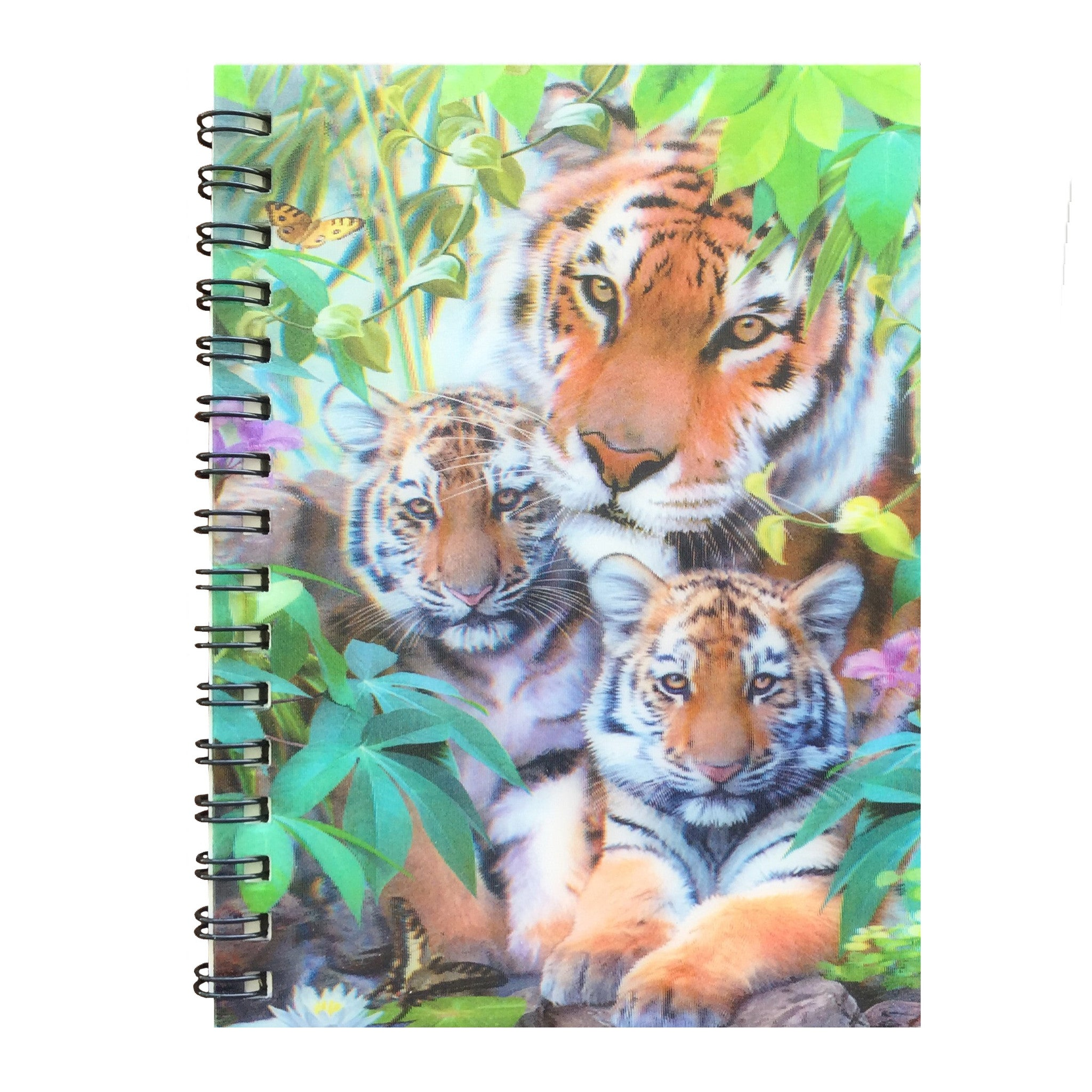 Note Book - 3D Hologram Tiger & Cubs
