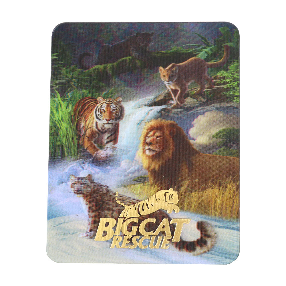3D Magnet - Hologram Big Cats With Waterfall