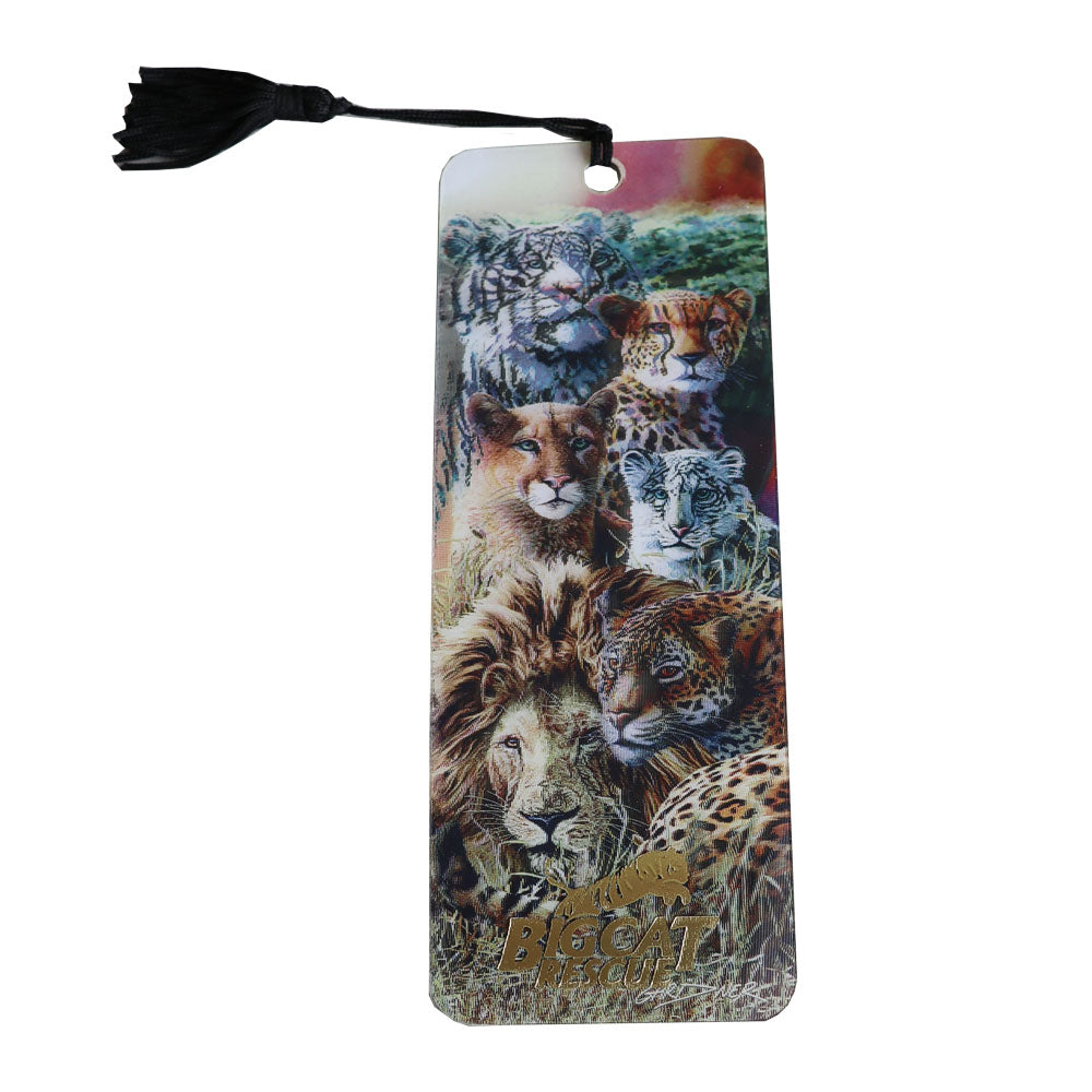 3D Bookmark  - Hologram Big Cats with Cheetah