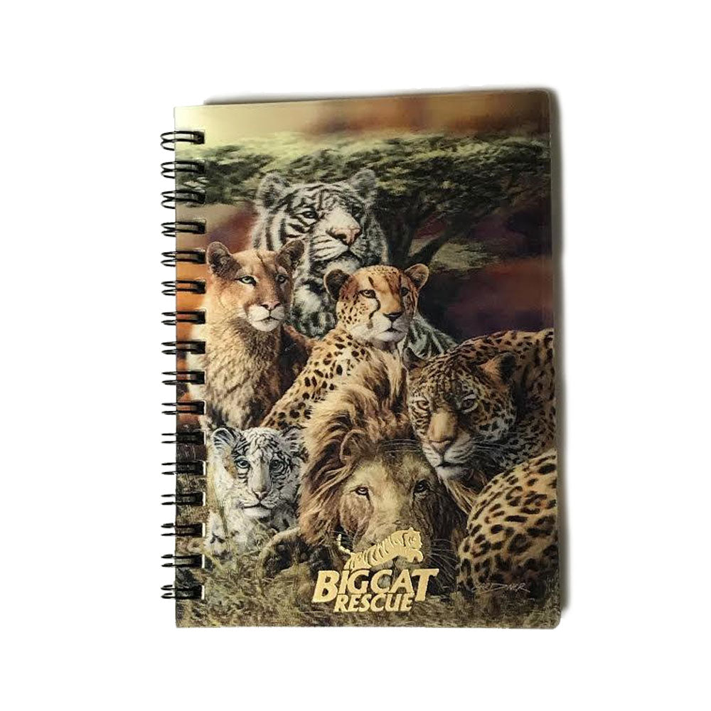3D Notebook - Hologram Big Cats with Cheetah