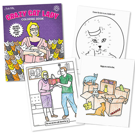 Book - Crazy Cat Lady Coloring Book