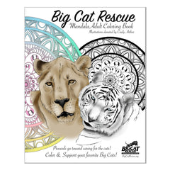 Book - Big Cat Rescue Adult Coloring Book