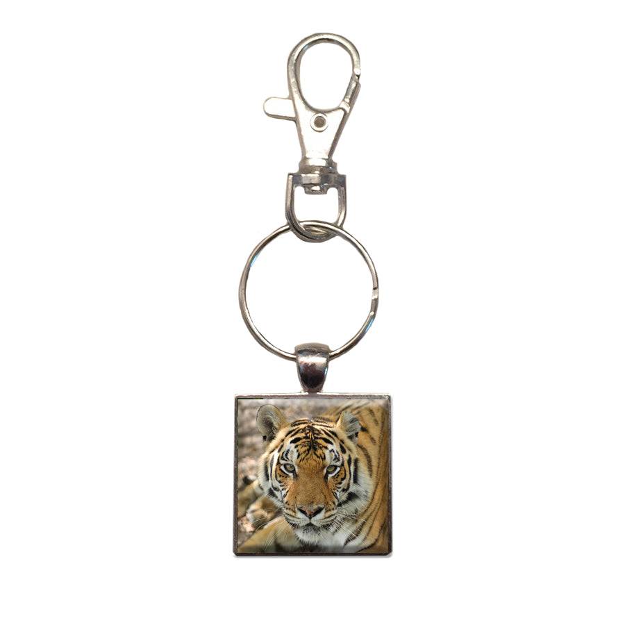Key Chain - Metal Photo Jasmine Tigress