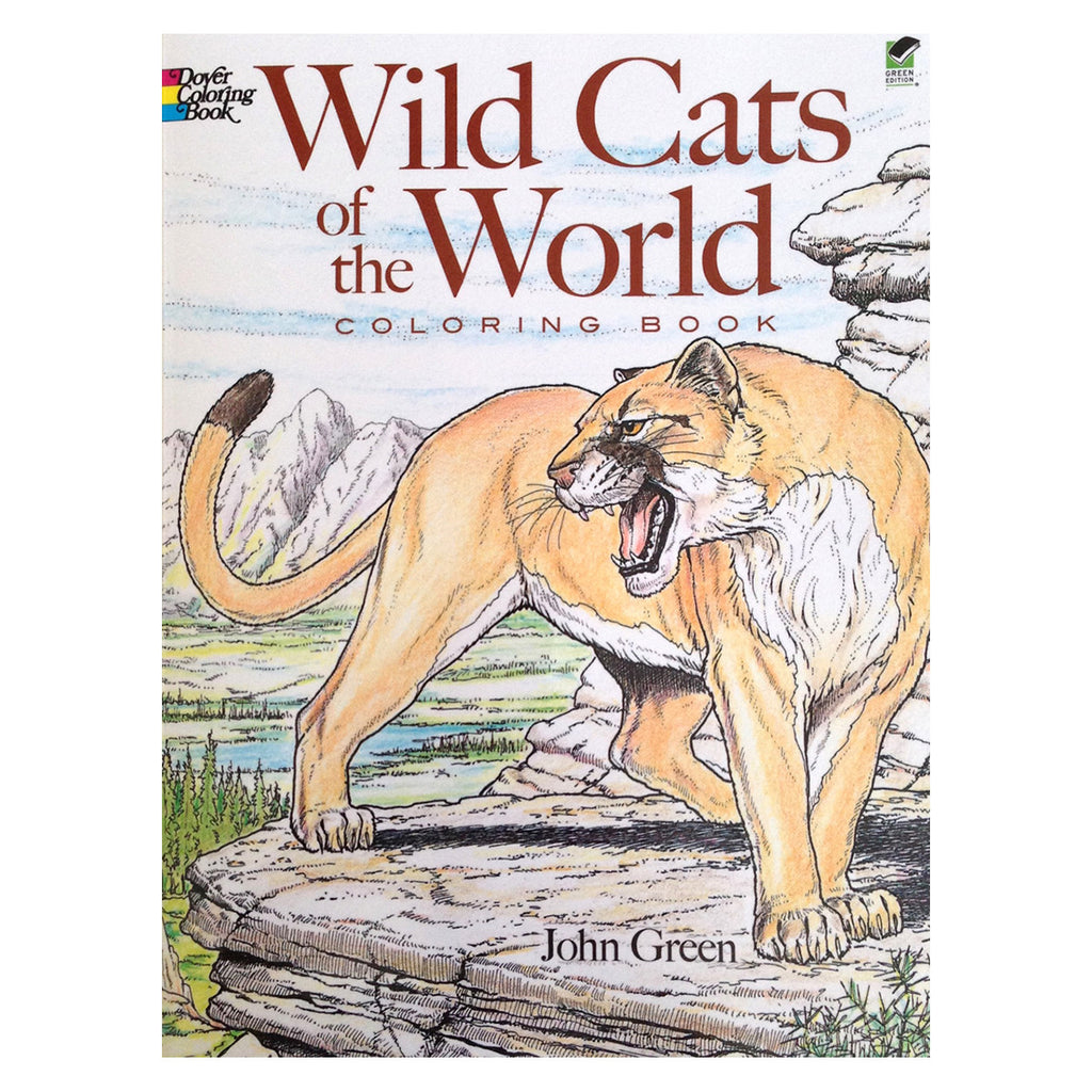 Book for Kids - Wildcats of the World Coloring Book