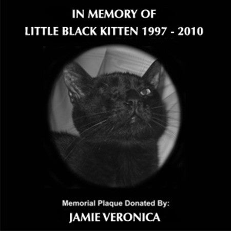 Donation - Pet Memorial Plaque