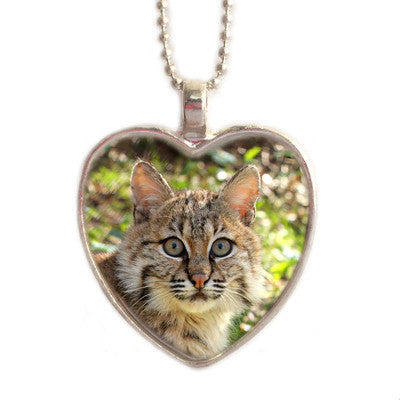 Pendant - Mrs Claws Bobcat Heart