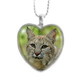 Pendant - Bobcat Photo Heart