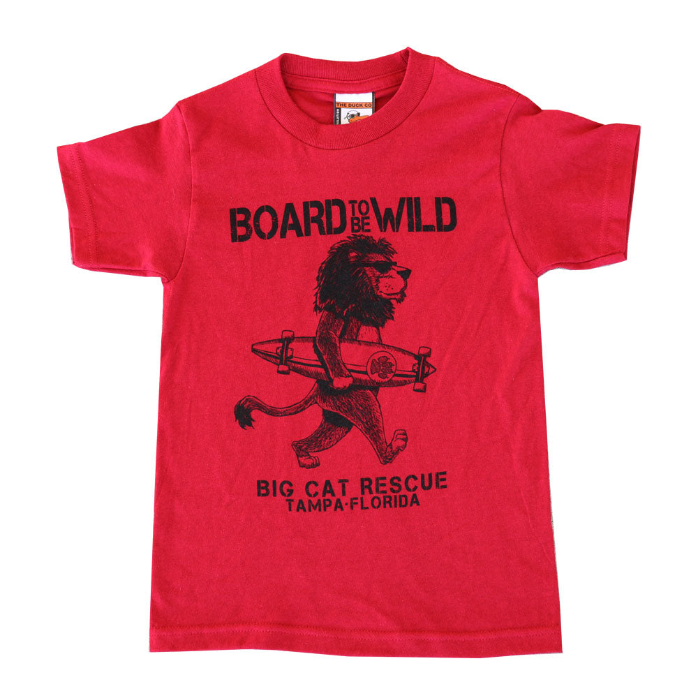 Kids Shirt - Board to be Wild Lion