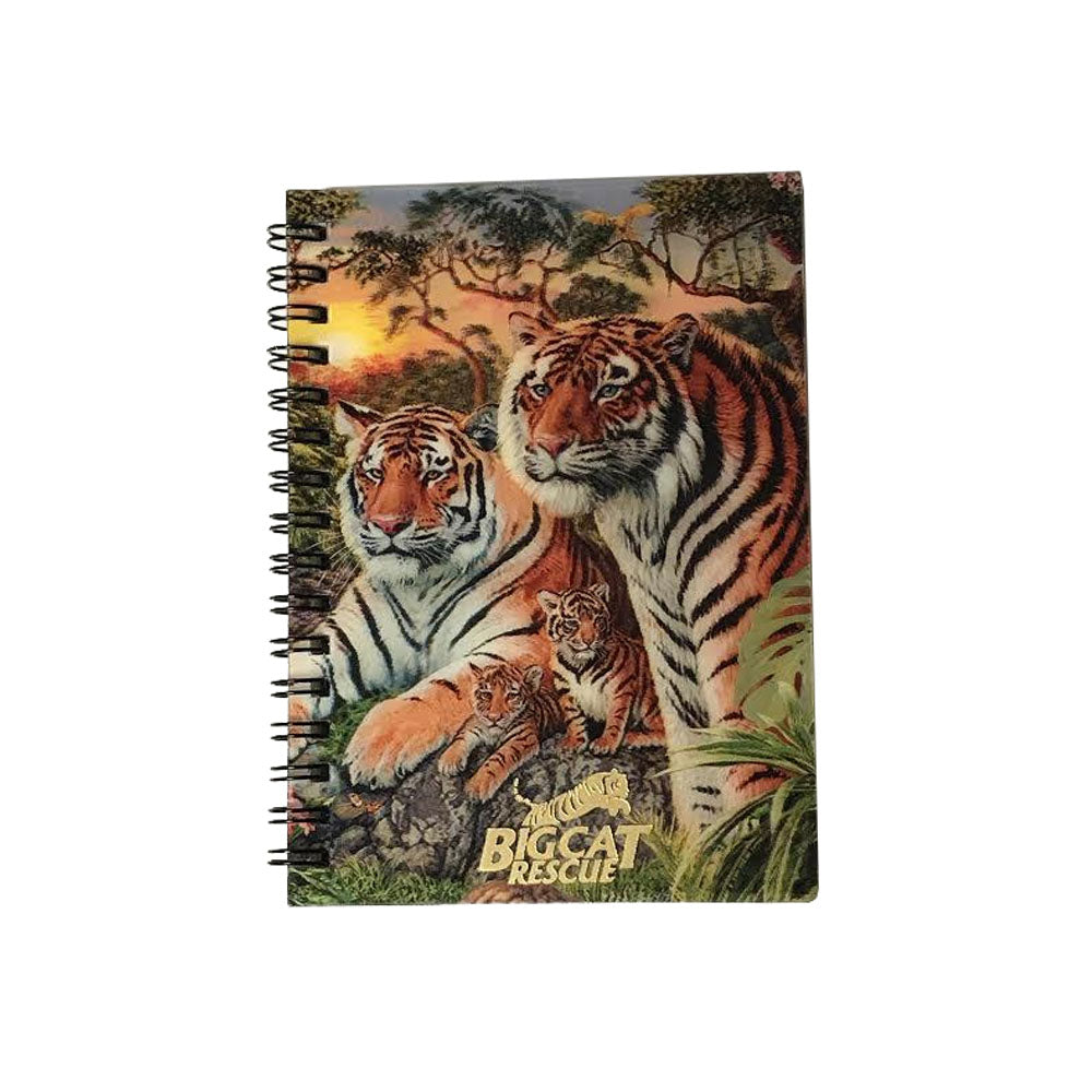 3D Notebook Tiger Family