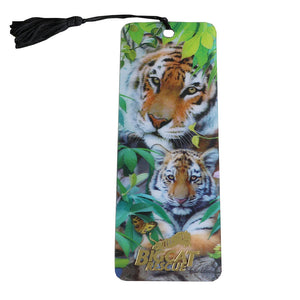 3D Bookmark - Hologram Tiger & Cub