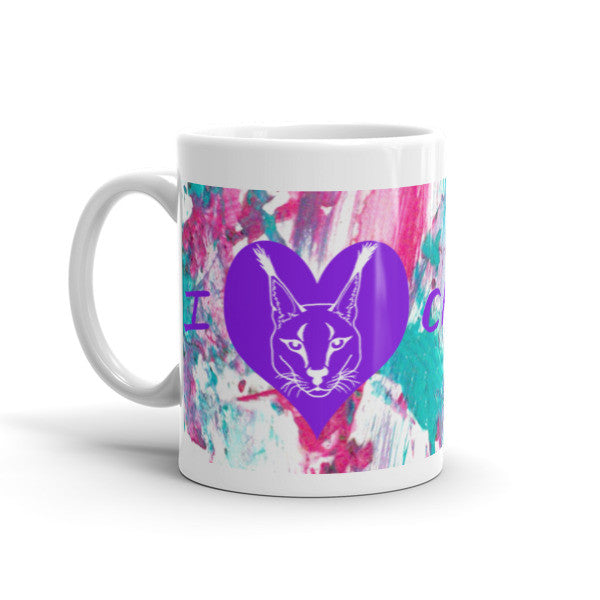 Mug - Rusty & Sassy Caracal Paw Painting